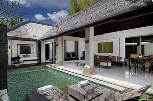 The private Spa Village at the Amala, Seminyak