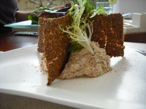Raw cashew hummus at Faces Restaurant